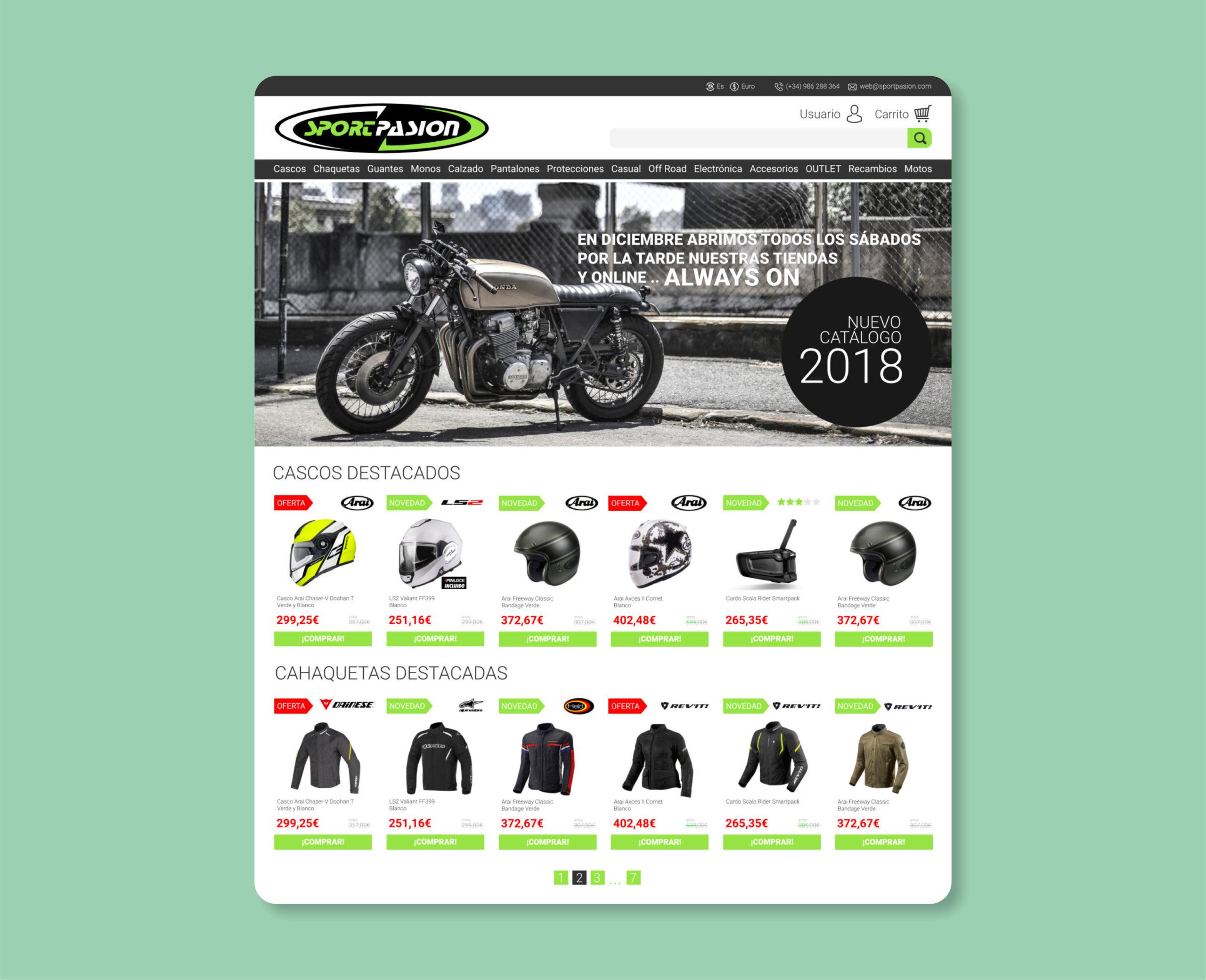 Diseño Tienda Online Motos